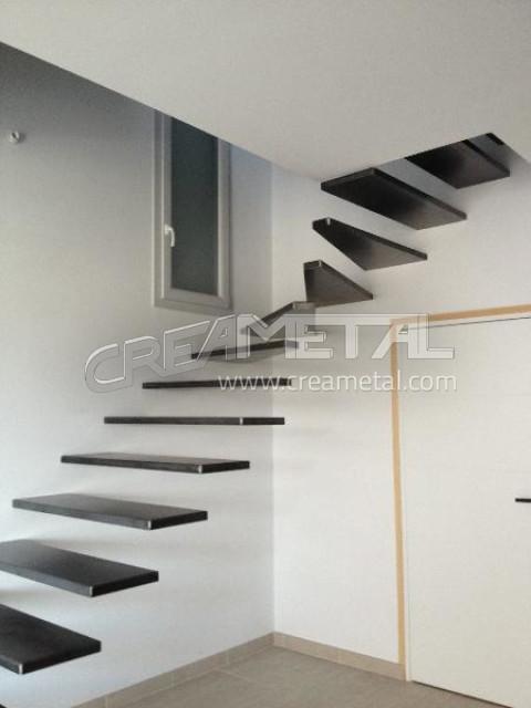 Etude Et Fabrication Escalier Suspendu 1 4 Tournant Balance