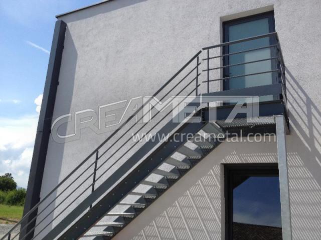 Etude Et Fabrication Escalier Droit Avec Palier De Reception