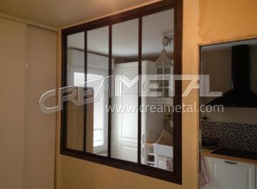Etude et fabrication verri re d 39 int rieur verri re de cuisine creametal - Construire une verriere d interieur ...