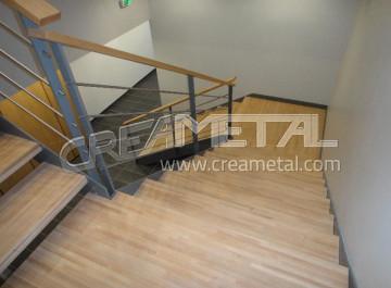etude et fabrication escalier design droit avec garde corps en cable tendu lyon creametal. Black Bedroom Furniture Sets. Home Design Ideas