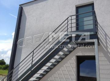 etude et fabrication escalier quart tournant original et design creametal. Black Bedroom Furniture Sets. Home Design Ideas