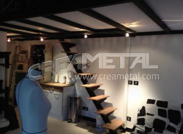 R alisations creametal - Escalier droit moderne ...