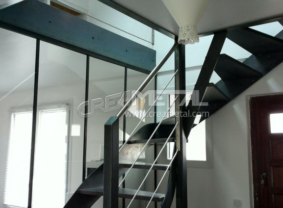 etude et fabrication escalier 2 4 tournant balanc 69 rh ne creametal. Black Bedroom Furniture Sets. Home Design Ideas