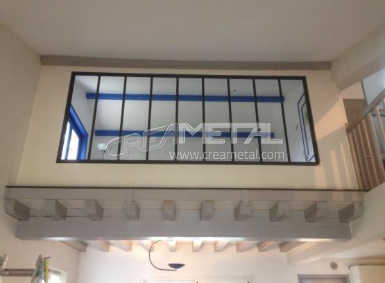 etude et fabrication verri re d 39 int rieur design en acier brut creametal. Black Bedroom Furniture Sets. Home Design Ideas