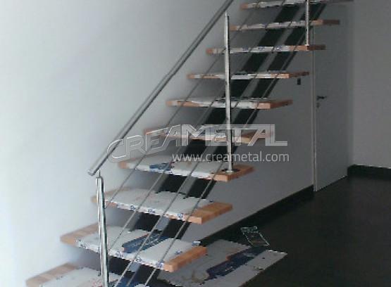 etude et fabrication escalier droit avec limon central et garde corps inox en isere 38 creametal. Black Bedroom Furniture Sets. Home Design Ideas