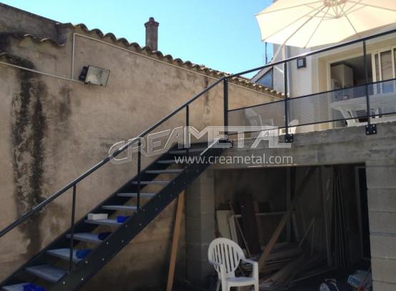 Etude Et Fabrication Escalier Ext Rieur En Acier Creametal
