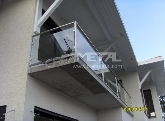 etude et fabrication garde corps balcon en verre creametal. Black Bedroom Furniture Sets. Home Design Ideas