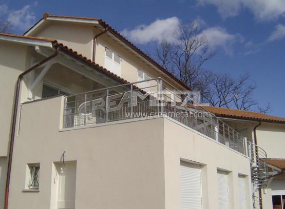 etude et fabrication garde corps terrasse creametal. Black Bedroom Furniture Sets. Home Design Ideas
