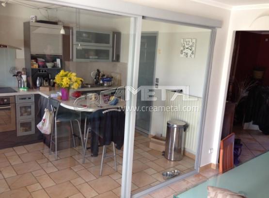 Etude et fabrication baie vitr e s paration cuisine - Separation entre cuisine et salon ...