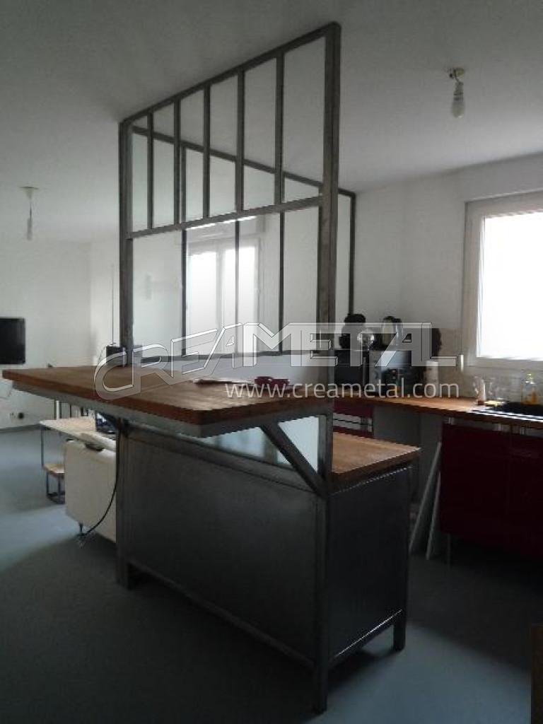 Etude et fabrication verri re d 39 int rieur moderne pour for Verriere style loft