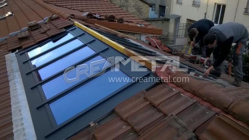 etude et fabrication verrière de toiture à lyon avec rupture de pont