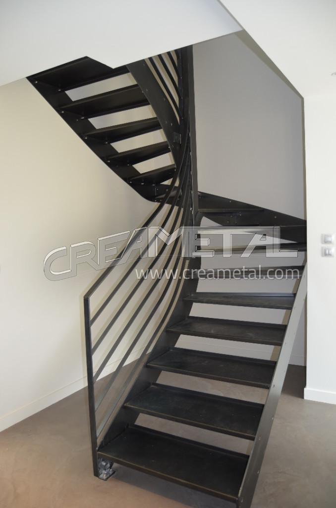 escaliers en m tal sur mesure etude fabrication et. Black Bedroom Furniture Sets. Home Design Ideas