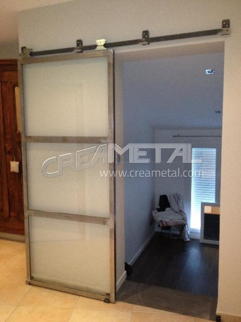 Porte de bureau coulissante creametal - Fabrication porte coulissante ...