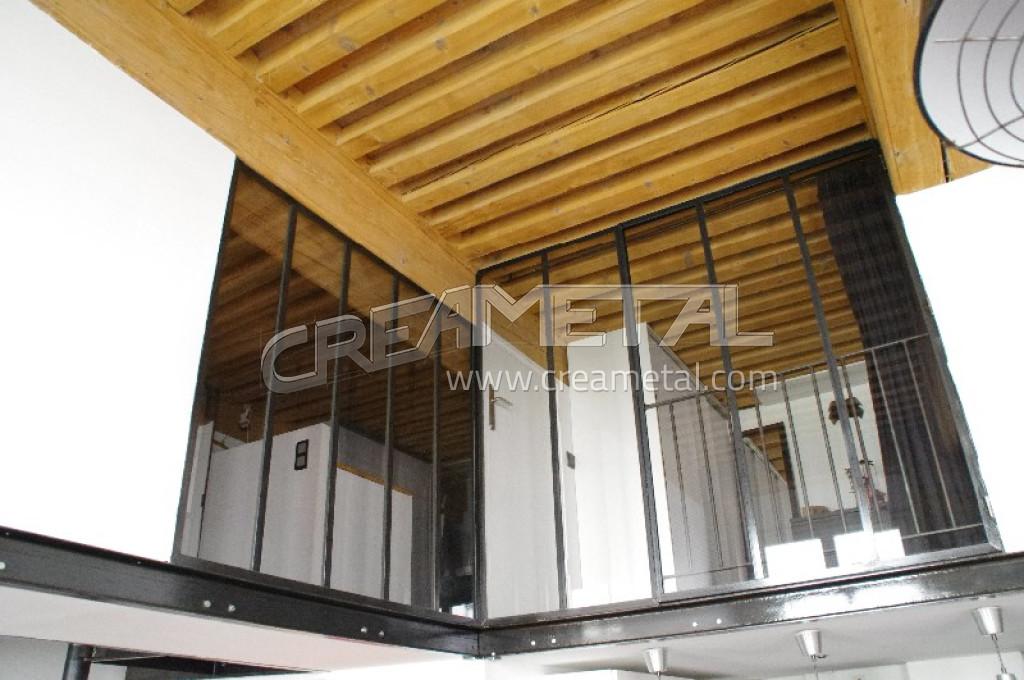 verri re int rieur mezzanine lyon creametal. Black Bedroom Furniture Sets. Home Design Ideas
