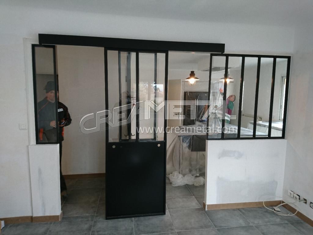 Etude Et Fabrication Separation Cuisine Salon Avec Un Ensemble De