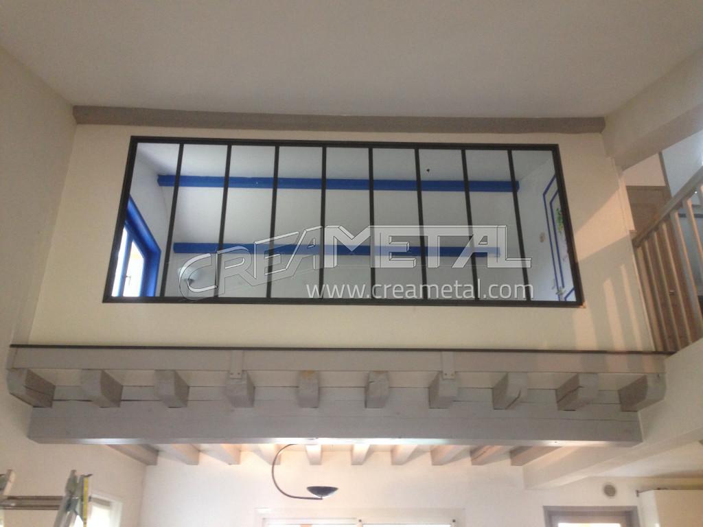 Etude et fabrication verri re d 39 int rieur design en acier for Verriere acier interieur