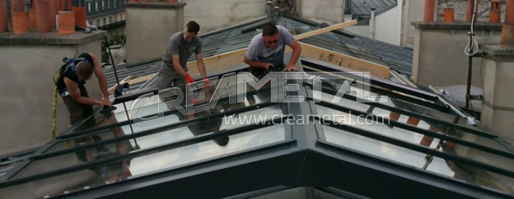 etude et fabrication verri re de toiture coulissante. Black Bedroom Furniture Sets. Home Design Ideas