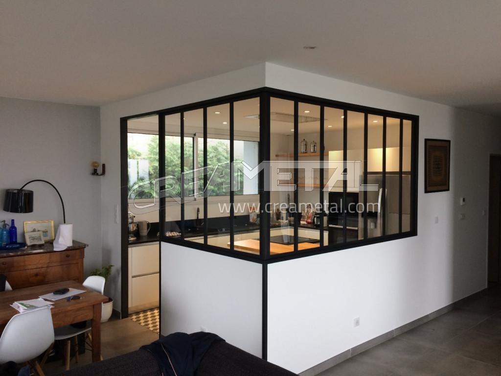Etude et fabrication Verrière de cuisine design en acier brut sur ...
