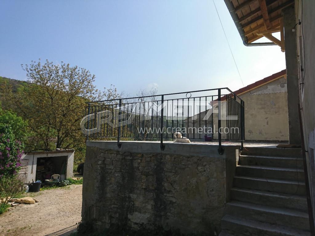 Etude et fabrication garde corps de terrasse dans l 39 ain 01 creametal for Garde corps terrasse
