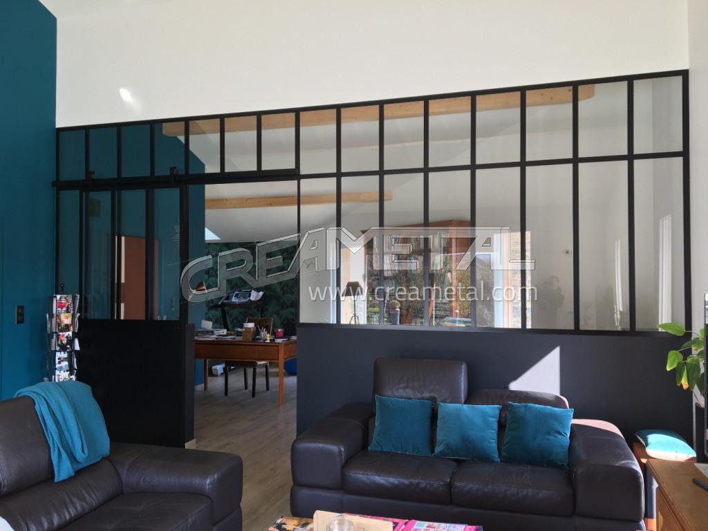 etude et fabrication verri re et porte coulissante type atelier dans le rh ne creametal. Black Bedroom Furniture Sets. Home Design Ideas
