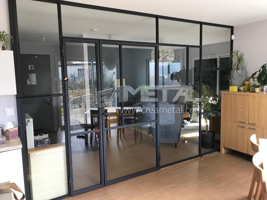 Double Porte Verriere Interieure etude et fabrication verrière et porte vitrée contemporaine