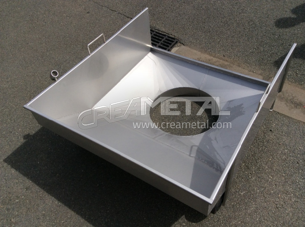Fabricant etude fabrication sur mesure d 39 un entonnoir en for Fabrication inox