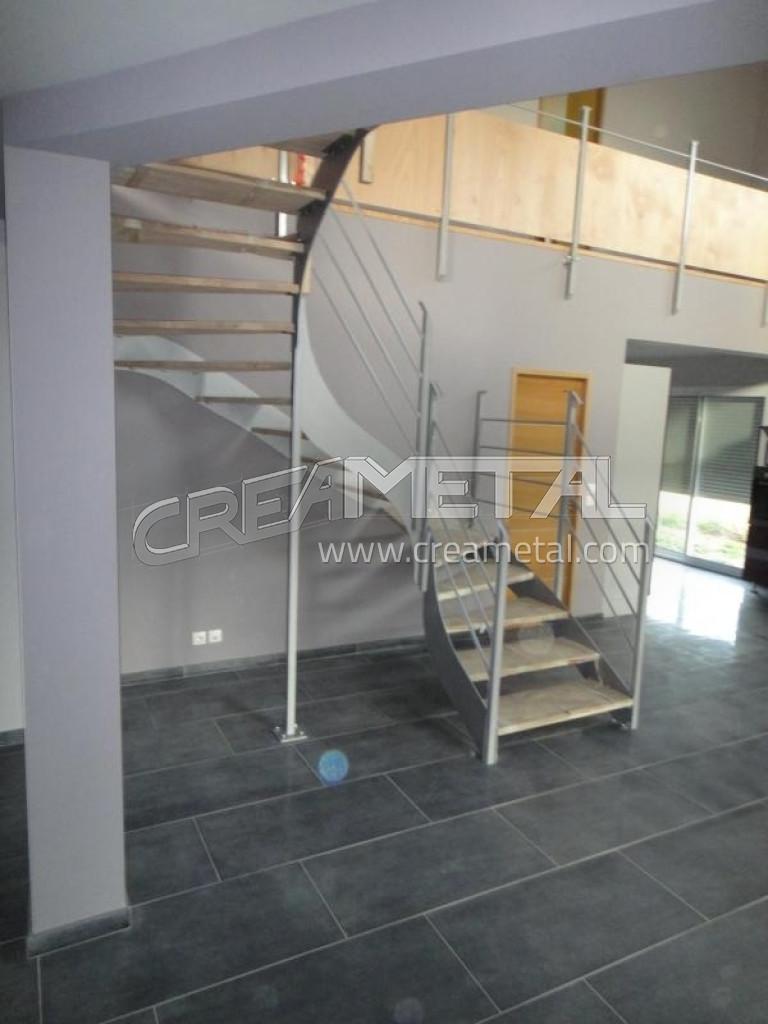 etude et fabrication escalier 2 4 tournant balanc creametal. Black Bedroom Furniture Sets. Home Design Ideas