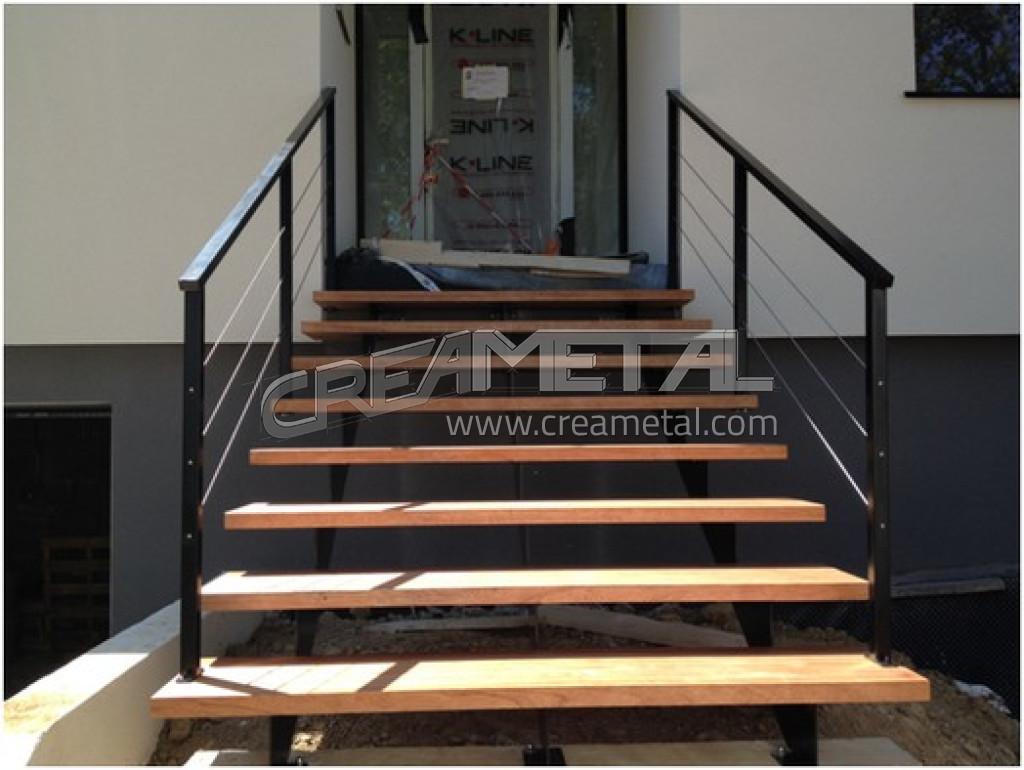 etude et fabrication escalier droit ecully 69 creametal. Black Bedroom Furniture Sets. Home Design Ideas