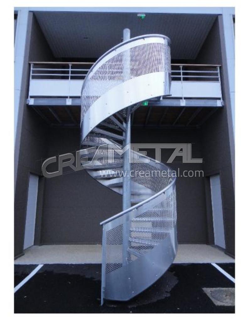Fabricant escalier helico dal en aluminium avec garde for Escalier helicoidal exterieur