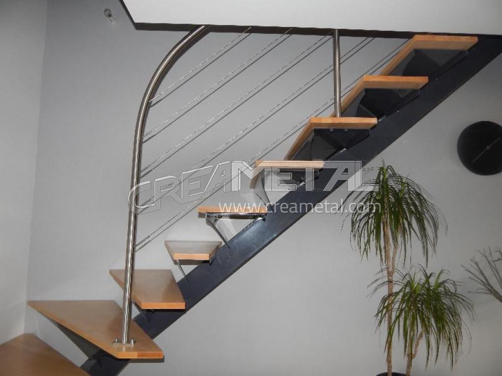 etude et fabrication escalier limon central d billard creametal. Black Bedroom Furniture Sets. Home Design Ideas