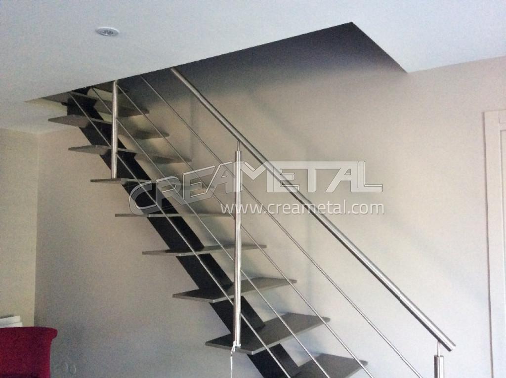 Escalier Moderne Metal. Trendy Le Drennec Acier Escalier Un Quart ...