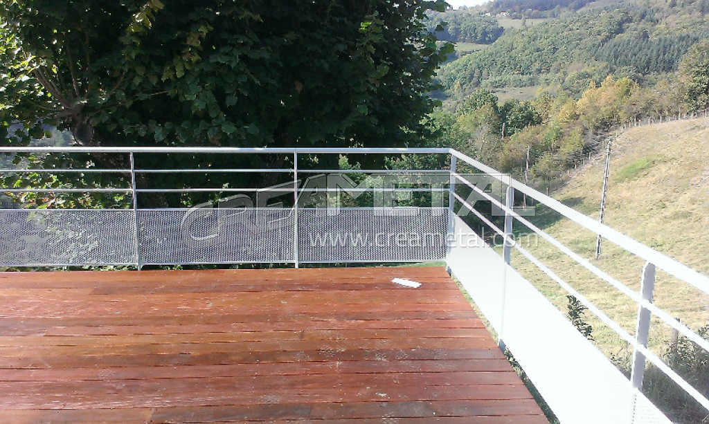 etude et fabrication garde corps de terrasse install dans le beaujolais 69 creametal. Black Bedroom Furniture Sets. Home Design Ideas