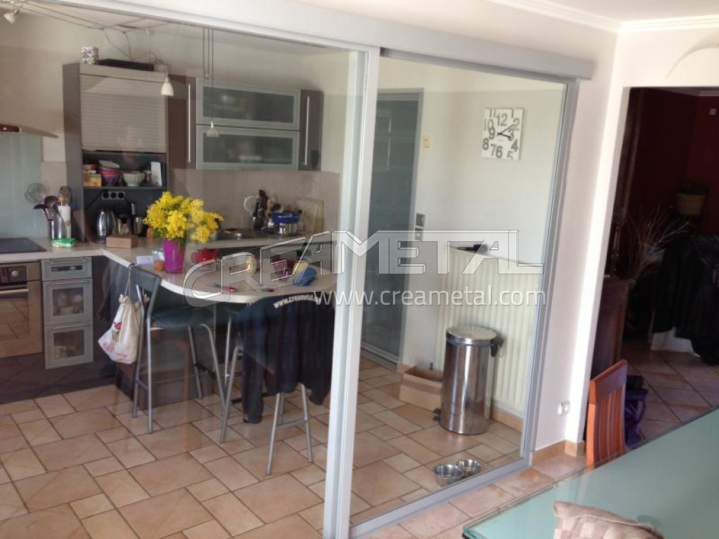 Etude et fabrication baie vitr e s paration cuisine - Separation en verre cuisine salon ...