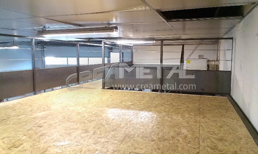 etude et fabrication mezzanine en acier brut à villefranche 69400