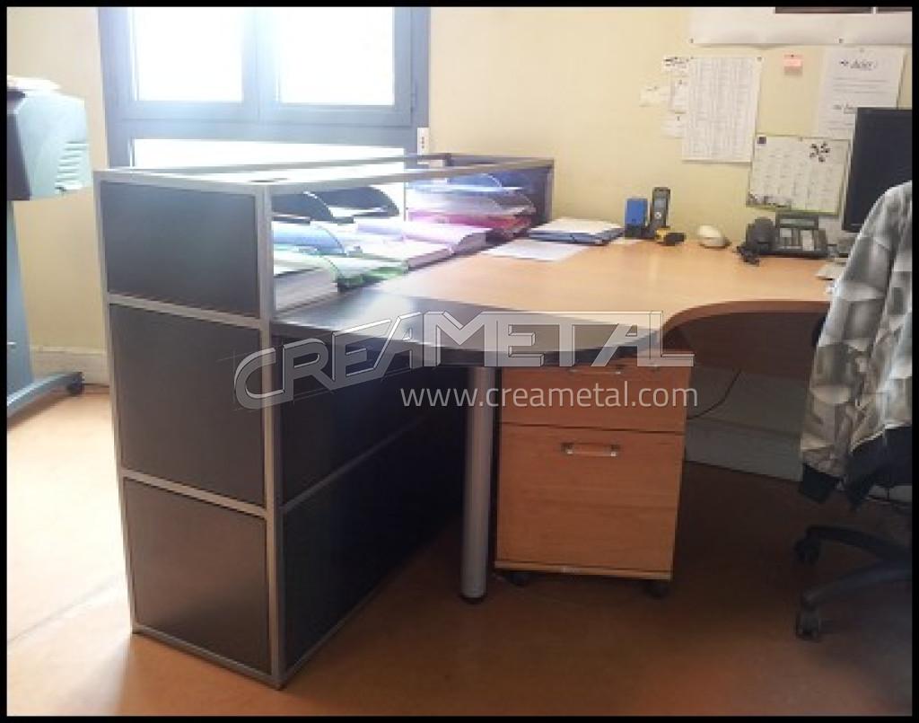 Etude et fabrication mobilier métallique de bureau en acier creametal