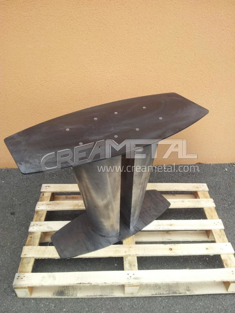 Fabricant assise en acier brut pour pi tement de table lyon pietement de table for Pietement de table