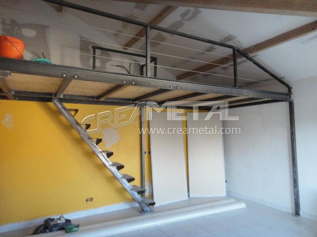 Etude et fabrication plateforme moderne escalier droit creametal - Escalier droit moderne ...