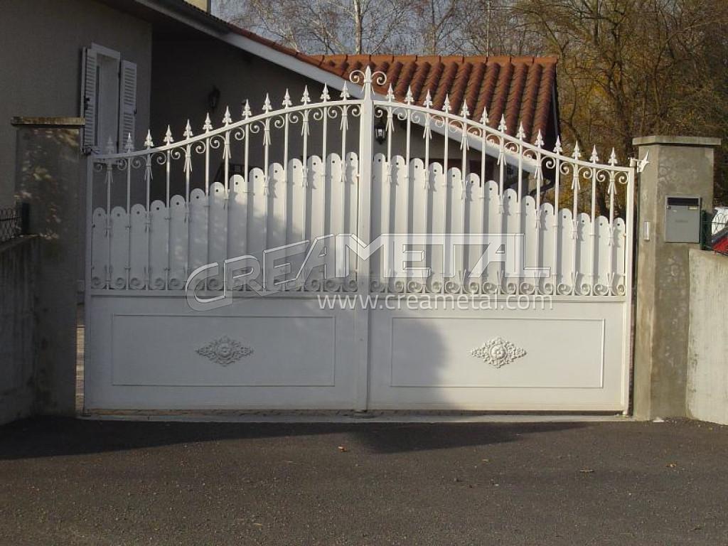 Etude et fabrication portail coulissant portail electrique portail automatique portail en fer for Portail electrique