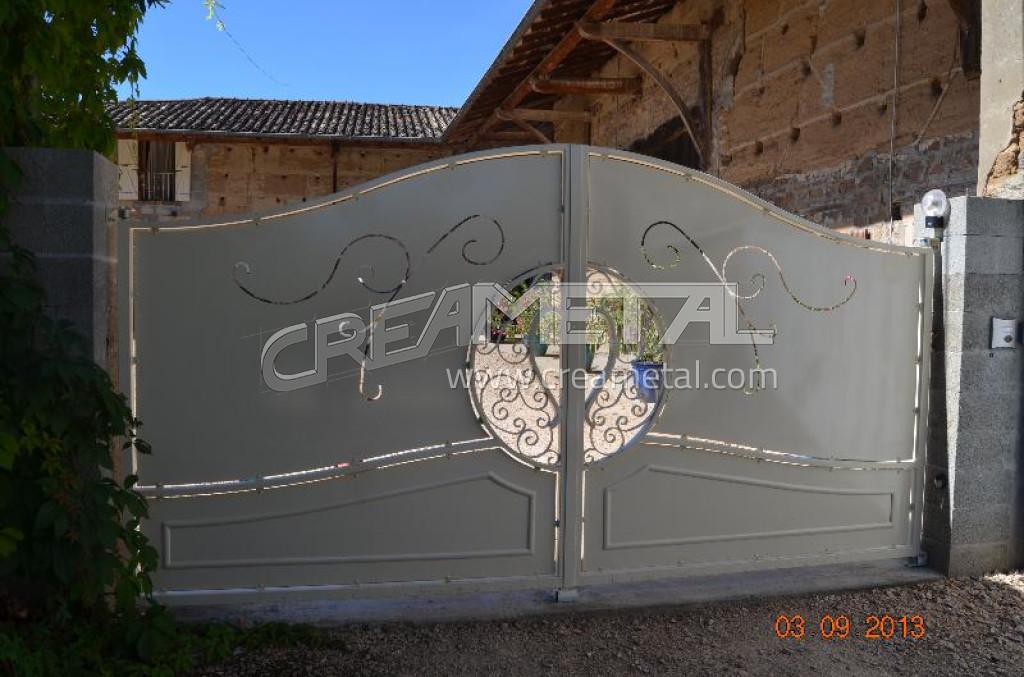 etude et fabrication portail deux vantaux sur mesure en saone et loire creametal. Black Bedroom Furniture Sets. Home Design Ideas