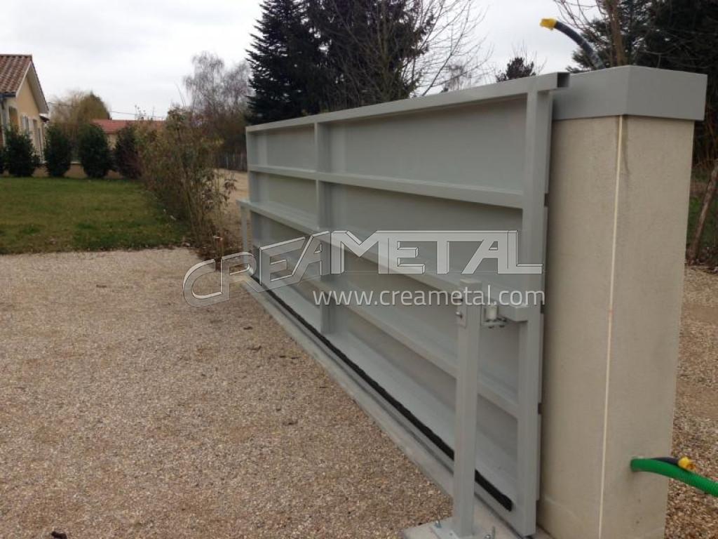 Etude et fabrication portail en aluminium creametal for Portail en aluminium motorise
